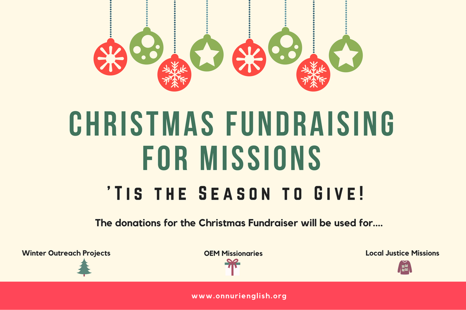 Christmas Fundraising for Missions 2017